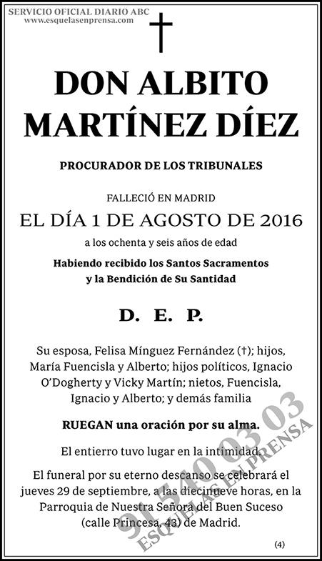 Albito Martínez Díez